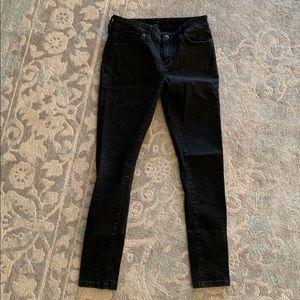 Joes black crop skinny jeans